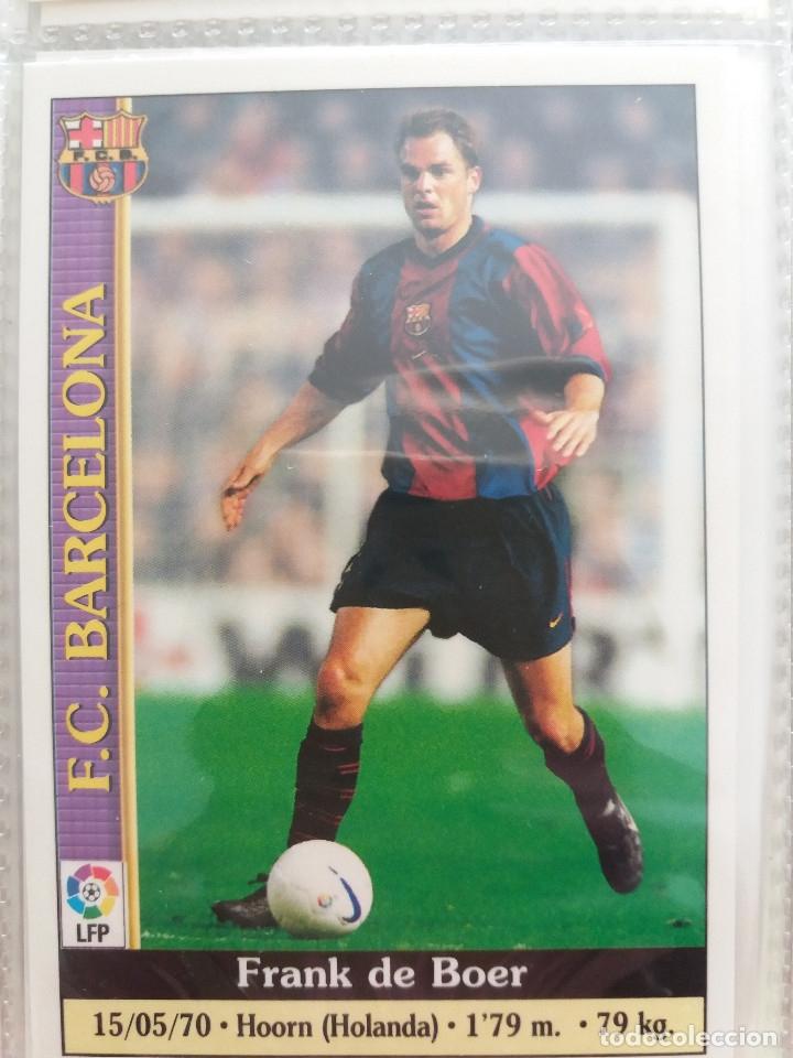 8 FRANK DE BOER - F.C. BARCELONA - MUNDICROMO 2000 (Coleccionismo Deportivo - Álbumes y Cromos de Deportes - Cromos de Fútbol)