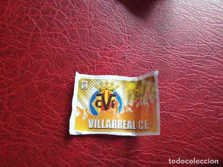 ESCUDO VILLARREAL CHICLE LIGA 11 12 CROMO FUTBOL 2011 2012 - SIN PEGAR - (Coleccionismo Deportivo - Álbumes y Cromos de Deportes - Cromos de Fútbol)