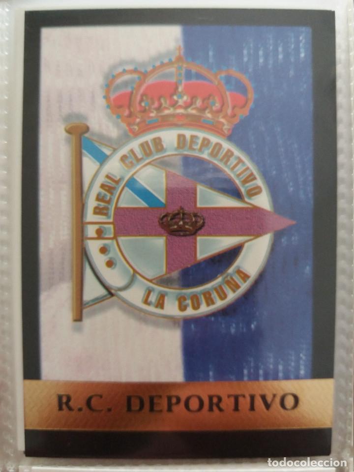 91 ESCUDO R.C. DEPORTIVO LA CORUÑA - MUNDICROMO 2000 (Coleccionismo Deportivo - Álbumes y Cromos de Deportes - Cromos de Fútbol)