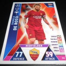 Cromos de Fútbol: 244 DANIELE DE ROSSI AS ROMA CARDS CHAMPIONS LEAGUE TOPPS ATTAX 18 19 2018 2019. Lote 176630817