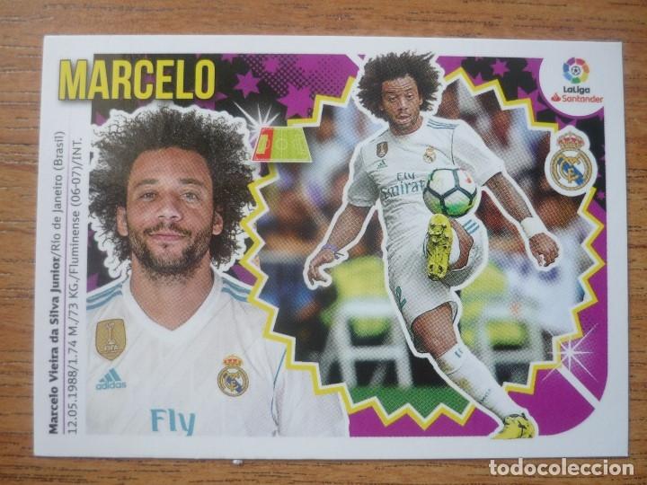 ESTE 2018 2019 PANINI 7 A MARCELO (REAL MADRID) - SIN PEGAR - CROMO FUTBOL LIGA 18 19 (Coleccionismo Deportivo - Álbumes y Cromos de Deportes - Cromos de Fútbol)