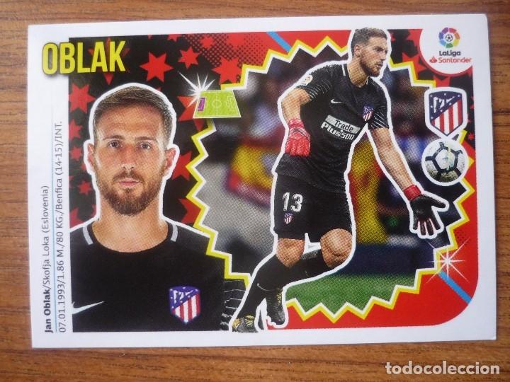 ESTE 2018 2019 PANINI 1 OBLAK (ATLETICO MADRID) - SIN PEGAR - CROMO FUTBOL LIGA 18 19 (Coleccionismo Deportivo - Álbumes y Cromos de Deportes - Cromos de Fútbol)