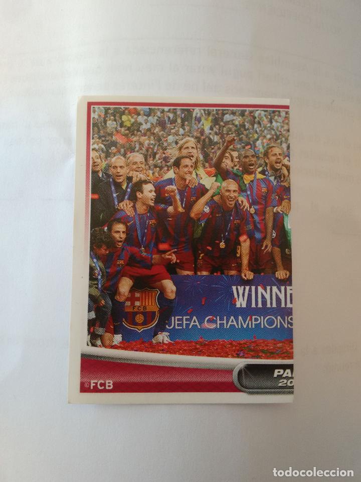 Nº 179 PLANTILLA CHAMPIONS PARIS 2006 - CROMO BARCELONA 2007-2008 BARÇA LIGA FÚTBOL 07-08 PANINI (Coleccionismo Deportivo - Álbumes y Cromos de Deportes - Cromos de Fútbol)