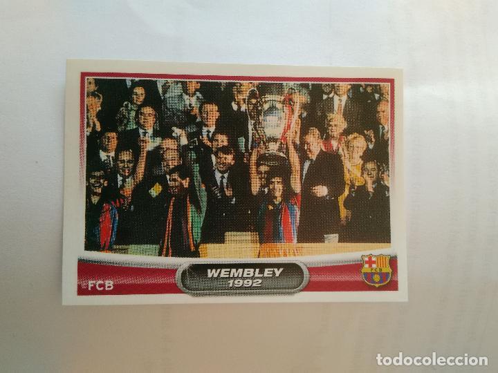 Nº 172 CAMPEONES COPA EUROPA WEMBLEY 1992 - CROMO BARCELONA 2007-2008 BARÇA LIGA FÚTBOL 07-08 PANINI (Coleccionismo Deportivo - Álbumes y Cromos de Deportes - Cromos de Fútbol)
