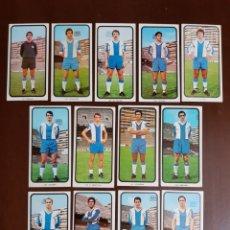 Cromos de Fútbol: RUIZ ROMERO 1973-1974 RCD ESPAÑOL 13 CROMOS DIFERENTES 127 BORJA 131 POLI 134 SOLSONA 140 DE DIEGO... Lote 177050623