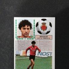 Cromos de Fútbol: MLL BRAULIO MALLORCA ESTE 1983 1984 83 84 NUEVO SIN PEGAR NUNCA PEGADO. Lote 177234157