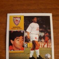 Cromos de Fútbol: COLOCA MARADONA (SEVILLA) LIGA 92-93 ESTE. NUNCA PEGADO. Lote 177324499