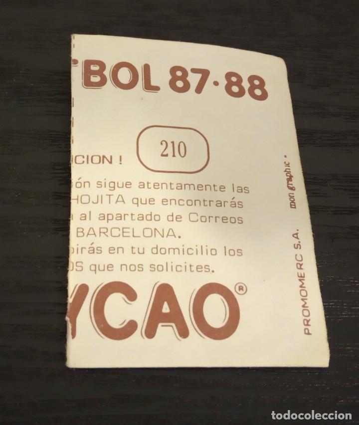 Cromos de Fútbol: -BOLLYCAO 87-88 : 210 VILLARROYA ( SABADELL ) - Foto 2 - 177409959