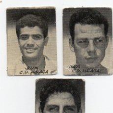 Cromos de Fútbol: 3 CROMOS DEL MALAGA, 1953, COLECCION FIGURAS DEL FUTBOL,. Lote 177565574