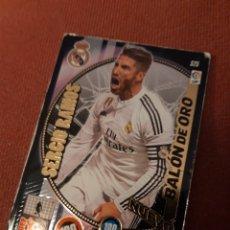 Cartes à collectionner de Football: ADRENALYN XL 2015 2014 15 14 REAL MADRID SERGIO RAMOS NUEVO BALÓN DE ORO 525. Lote 177685415