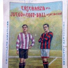 Cromos de Fútbol: CR-267. 25 CROMOS ENSEÑANZA DEL JUEGO DE FOOT-BALL ASOCIACIÓN. SERIE COMPLETA. CHOCOLATES AMATLLER.. Lote 177842824