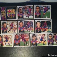 Cromos de Fútbol: ESTE LIGA 98/99 LOTE 10 CROMOS DEL BARCELONA NUEVOS SIN PEGAR. Lote 178045045