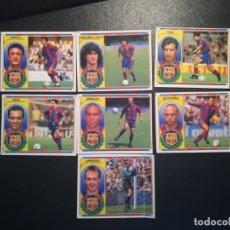Cromos de Fútbol: ESTE LIGA 96/97 LOTE 7 CROMOS DEL BARCELONA SIN PEGAR MENOS 1 EN VENTANILLA LEER INTERIOR. Lote 178045369