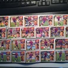 Cromos de Fútbol: ESTE LIGA 97/98 LOTE 21 CROMOS DEL BARCELONA SIN PEGAR LEER INTERIOR. Lote 178045635