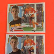 Cromos de Fútbol: LIGA ESTE -2010-2011 - AT.MADRID -DE GEA Nº 1--ERROR DOBLE TRASERA SE MANDAN LOS DOS MUY DIFICIL. Lote 178212210