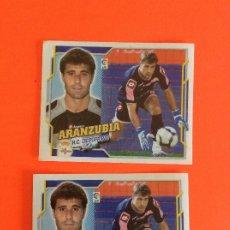 Cromos de Fútbol: LIGA ESTE -2010-2011 -DEPORTIVO-ARANZUBIA-Nº1 -ERROR DOBLE TRASERA SE MANDAN LOS DOS MUY DIFICIL. Lote 178213991