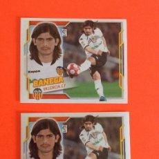 Cromos de Fútbol: LIGA ESTE -2010-2011 - VALENCIA-BANEGA-Nº9 -ERROR DOBLE TRASERA SE MANDAN LOS DOS MUY DIFICIL. Lote 178216222