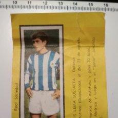 Cromos de Fútbol: CHICLE MAY - CAMPEONES Nº 139 - JOSE LUIS LEMA SUSTAETA REAL SOCIEDAD. Lote 178391771