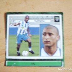 Cromos de Fútbol: ESTE 01-02 U.F Nº15 ROMERO MALAGA --RECORTADO--. Lote 178565601