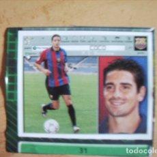 Cromos de Fútbol: ESTE 01-02 U.F Nº31 COCO BARCELONA --RECORTADO--. Lote 178568941