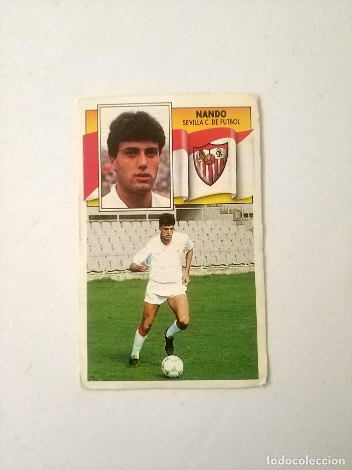 CROMO NANDO SEVILLA BAJA EDICIONES ESTE 90 - 91 NUNCA PEGADO (Coleccionismo Deportivo - Álbumes y Cromos de Deportes - Cromos de Fútbol)
