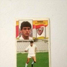 Cromos de Fútbol: CROMO NANDO SEVILLA BAJA EDICIONES ESTE 90 - 91 NUNCA PEGADO. Lote 178673186