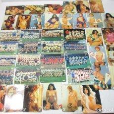 Cromos de Fútbol: LOTE 42 CARTAS EQUIPOS FÚTBOL Y CHICAS FRESCAS LA QUINIELA DE LA SUERTE SEXO Y DEPORTE. Lote 52488618