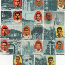 Cromos de Fútbol: 16 CROMOS, DE FHER 1963,. Lote 178763127