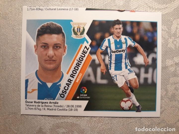 ERROR CORTE CROMO Nº 13 OSCAR RODRIGUEZ (C.D. LEGANÉS) LIGA 19-20 (2019 2020) (Coleccionismo Deportivo - Álbumes y Cromos de Deportes - Cromos de Fútbol)