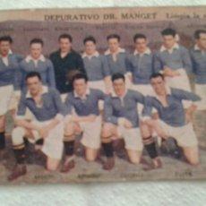 Cromos de Fútbol: REAL SOCIEDAD CAMPEON GUIPUZCOA 1922-23 DEPURATIVO DR.MANGET SERIE1-H. Lote 149900898