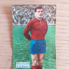 Cromos de Fútbol: FÚTBOL CROMO RECALDE C.A. OSASUNA ÁLBUM MAGOS DEL BALÓN TRIUNFO 1962 1963 DESPEGADO. Lote 178933700