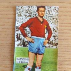 Cromos de Fútbol: FÚTBOL CROMO DAVOINE C.D. MALLORCA ÁLBUM MAGOS DEL BALÓN TRIUNFO 1962 1963 DESPEGADO. Lote 178937661