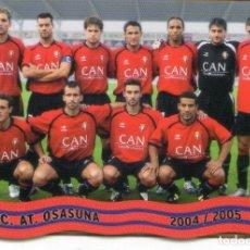 Cromos de Fútbol: ALINEACIÓN DEL C. AT. OSASUNA - Nº 326 - LAS FICHAS DE LA LIGA 2005 - MUNDICROMO.. Lote 179065716