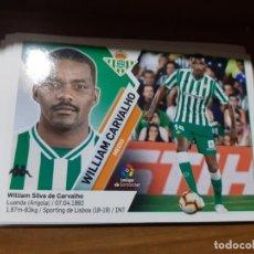 Cromos de Fútbol: CROMO COLECCIONES ESTE 2019/2020,EDITORIAL PANINI,EQUIPO REAL BETIS,JUGADOR WILLIAM CARVALHO. Lote 179075441