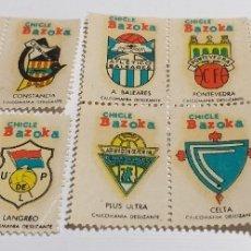 Cromos de Fútbol: ESCUDOS FUTBOL CHICLE BAZOKA - CALCOMANIA DESLIZANTE - LOTE DE 14 - LEER. Lote 179081671
