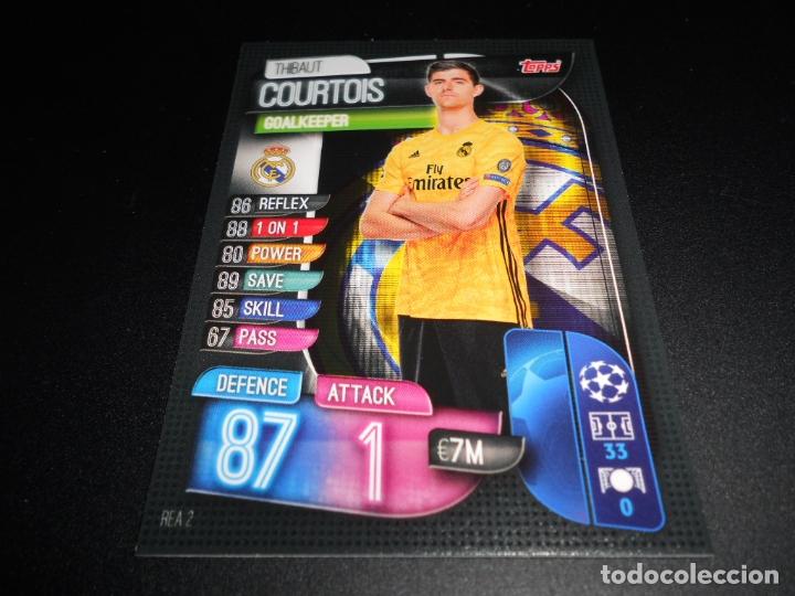2 THIBAUT COURTOIS REAL MADRID CARDS UEFA CHAMPIONS Y EUROPA LEAGUE TOPPS ATTAX 19 20 2019 2020 (Coleccionismo Deportivo - Álbumes y Cromos de Deportes - Cromos de Fútbol)