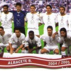 Cromos de Fútbol: ALINEACIÓN DEL ALBACETE BALOMPIÉ - Nº 353 - LAS FICHAS DE LA LIGA 2005 - MUNDICROMO.. Lote 179163448