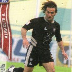 Cromos de Fútbol: PACO PEÑA (ALBACETE BALOMPIÉ) - Nº 360 - LAS FICHAS DE LA LIGA 2005 - MUNDICROMO.. Lote 179165317