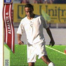 Cromos de Fútbol: MINGO (ALBACETE BALOMPIÉ) - Nº 361 - LAS FICHAS DE LA LIGA 2005 - MUNDICROMO.. Lote 179165372