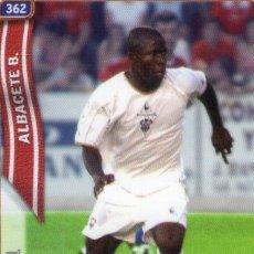 Cromos de Fútbol: LAWAL (ALBACETE BALOMPIÉ) - Nº 362 - LAS FICHAS DE LA LIGA 2005 - MUNDICROMO.. Lote 179165461