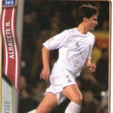 Cromos de Fútbol: ALVARO (ALBACETE BALOMPIÉ) - Nº 365 - LAS FICHAS DE LA LIGA 2005 - MUNDICROMO.. Lote 179165945