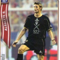 Cromos de Fútbol: RUBÉN (ALBACETE BALOMPIÉ) - Nº 367 - LAS FICHAS DE LA LIGA 2005 - MUNDICROMO.. Lote 179166392