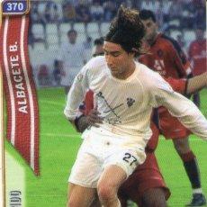 Cromos de Fútbol: REDONDO (ALBACETE BALOMPIÉ) - Nº 370 - LAS FICHAS DE LA LIGA 2005 - MUNDICROMO.. Lote 179169061
