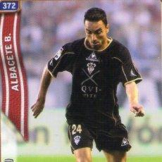 Cromos de Fútbol: MOMO (ALBACETE BALOMPIÉ) - Nº 372 - LAS FICHAS DE LA LIGA 2005 - MUNDICROMO.. Lote 179169296