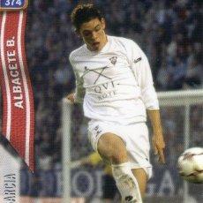 Cromos de Fútbol: PABLO GARCIA (ALBACETE BALOMPIÉ) - Nº 374 - LAS FICHAS DE LA LIGA 2005 - MUNDICROMO.. Lote 179169552