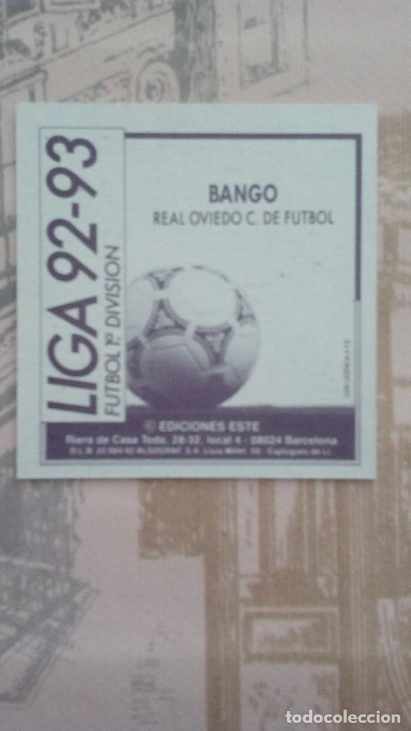 Cromos de Fútbol: bango del oviedo sin pegar liga 92/93 - Foto 2 - 179220432