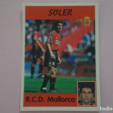 Cromos de Fútbol: CROMO DE FUTBOL SOLER DEL R.C.D. MALLORCA SIN PEGAR Nº 312 LIGA PANINI 1997-1998/97-98. Lote 194768492