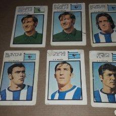 Cromos de Fútbol: LOTE 6 CROMOS MÁLAGA 71 FHER. Lote 180037801