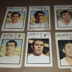 Cromos de Fútbol: LOTE 6 CROMOS VALENCIA 71 FHER. Lote 180037953