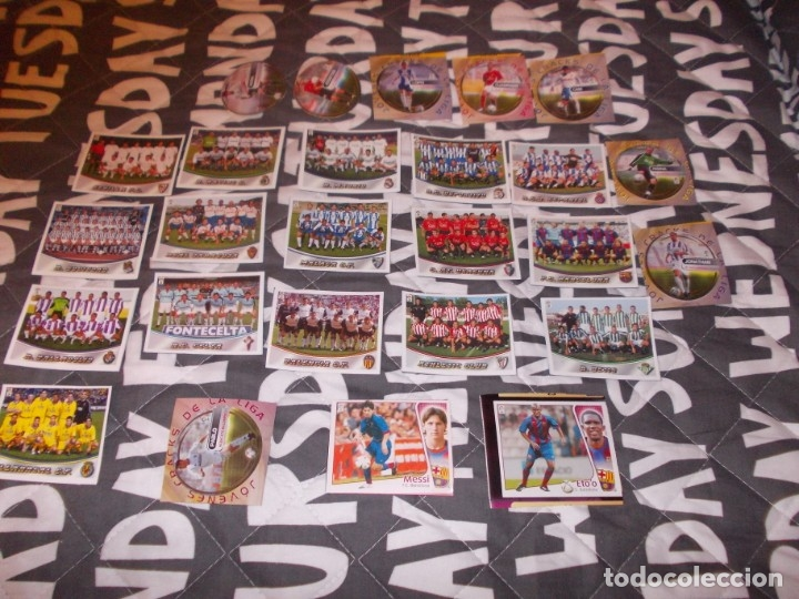 LIGA ESTE 2004 2005 MESSI +ALINACIONES LA RAZON 2003 2004 (Coleccionismo Deportivo - Álbumes y Cromos de Deportes - Cromos de Fútbol)